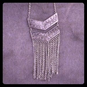 Long necklace with Aztec look